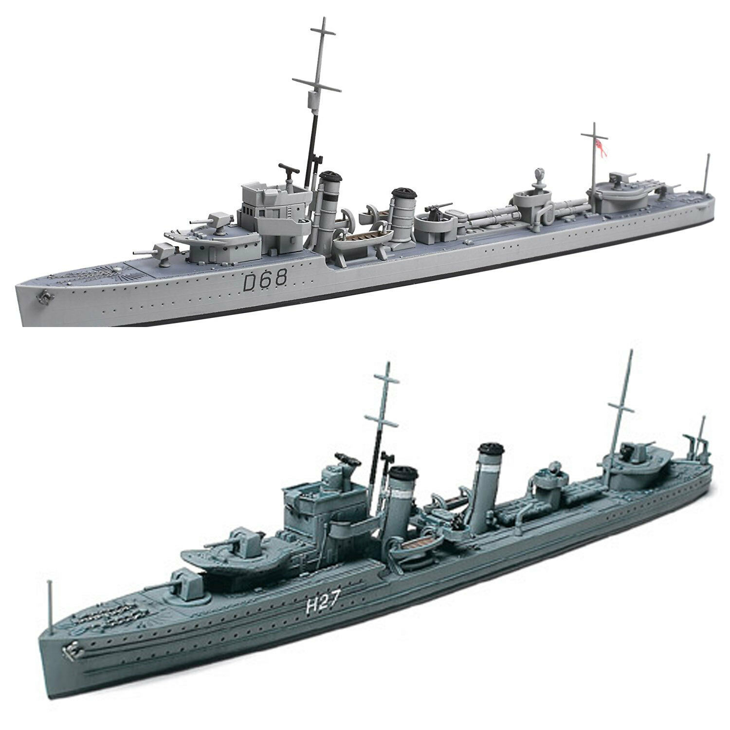 Primary image for 2 Tamiya Ship Models - Australian Naval Destroyer Vampire and O Class Destroyer