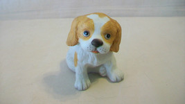 Homco Brown And White Dog Figurine, #1407 Matte Finish - $14.84