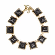 MICHAEL KORS MKJ2899 GOLD PLATED LARGE BLACK PYRAMID NECKLACE BNWT $295 - $175.00