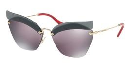 Brand New Miu Miu Sunglasses MU56TS I18147 63 18 147 Pale Gold Red/Purpl... - $544.50