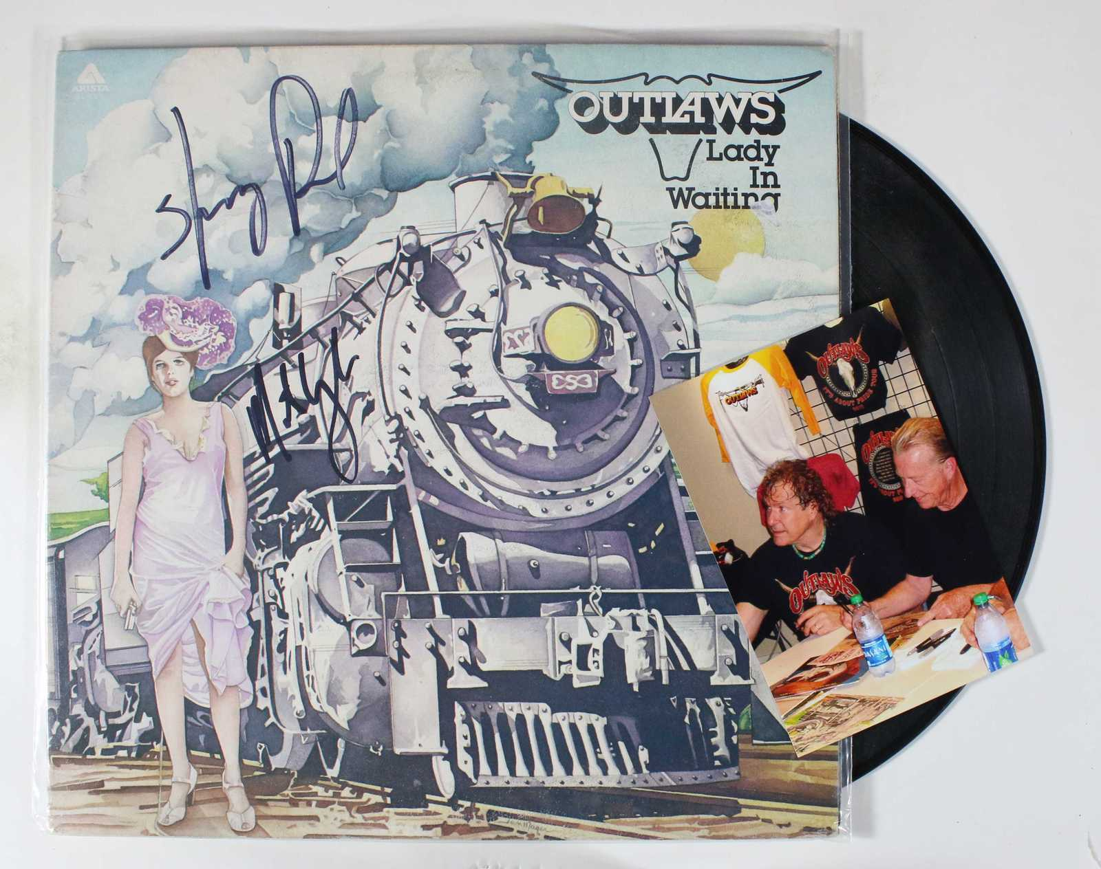 "Primary image for Henry Paul & Monte Yoho Signed Autographed ""Outlaws"" Record Album w/ Proof Photo"