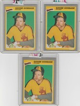 1985 Fleer  #33 Rich Gossage Lot of 3 - $1.85