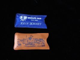 2 1964 New York World's Fair Rain  Bonnets Unused - $14.99