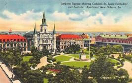 NEW ORLEANS, Louisiana LA  JACKSON SQUARE  Bird's Eye View  ca1940's Pos... - $4.86