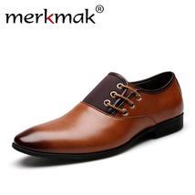 Merkmak Shoes Luxury Fo Trend England Men Shoes Leisure Brand Leather Breathable ZHZOtxqr