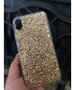 Iphone Xr Sequin Cellphone Gold Jelly Shiny Case - $9.89