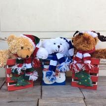PPG Clearance Christmas Decor - Teaddy Bears and Moose in Box - $19.95