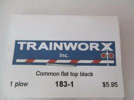 Trainworx Stock #183-1 Snowplow  Common Flat Top Black N-Scale- image 2