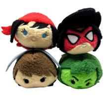 Marvel Women of Power Tsum Plush Set She Hulk Elektra Spider Woman Wasp ... - $31.41