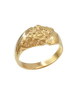 10K Mens Yellow Gold Diamond-shape Nugget Ring - $269.99
