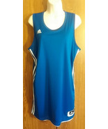 Womens Basketball Adidas Practice Team Jersey Sample Reversible Royal/White Med - $34.99