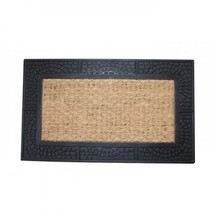 Welcome Mat With Reptile Texture Border - $24.43