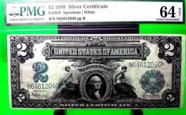 MONEY USA $2 DOLLARS 1899 SILVER CERTIFICATE UNC FR # 258 VALUE $2300 - $2,070.00