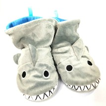Slippers Toddler Size 10 Puppet Pals Shark Plush Gray Blue - $18.76