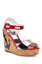 Dolce & Gabbana Nautical Platform Wedge Sandal 35 MSRP: $945.00 - $553.41
