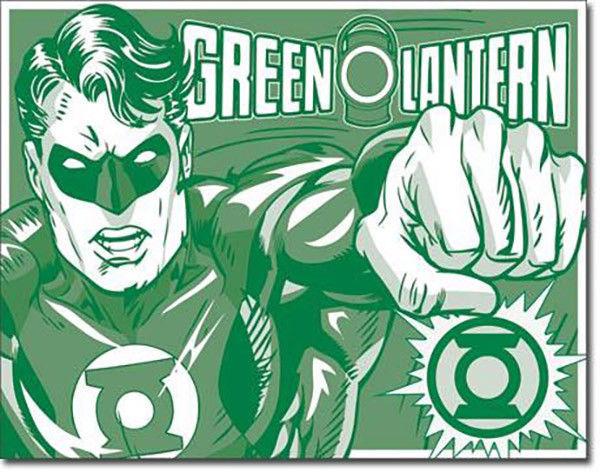 Green Lantern Duotone DC Universe Villains and Super Hero Metal Sign