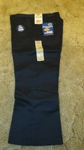 "DICKIES Girl's Junior Navy School Uniform Capri Sz 7 Boot Cut 31"" x  21-... - $14.80"