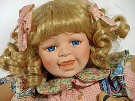 "Doll 15"" Inch Angel Porcelain Girl Dimples (B16GDDB10) - $59.99"
