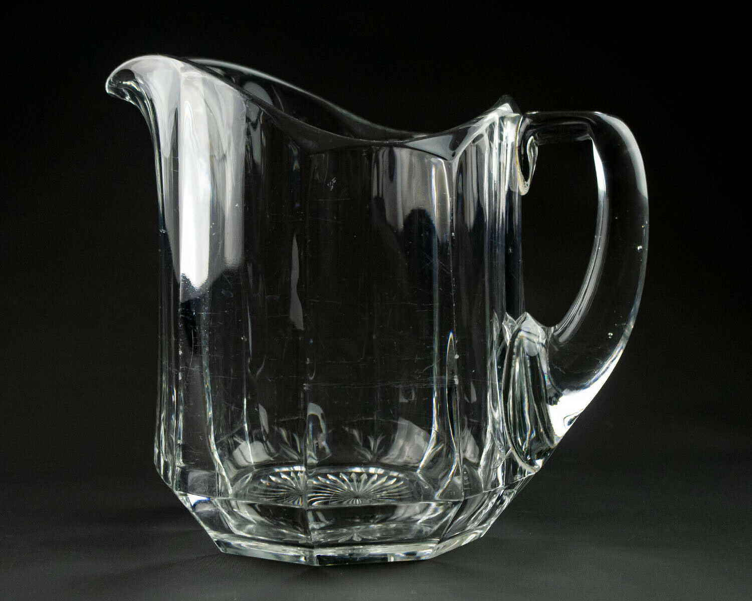 Primary image for Heisey 429 Plain Panel Recess 56oz Pitcher, Antique EAPG c1913 Colonial 7 1/2""