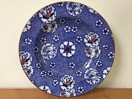 """Antique Minton Oriental Asian Floral Flow Blue Transferware Pasta Bowl Plate 10"""" - $100.00"""