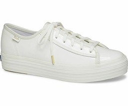 Keds WH58976 Women's Triple Kick Patent White Shoes, 10 Med - $49.45