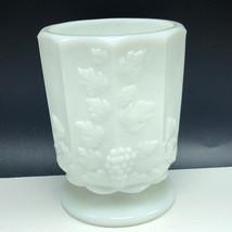 Westmoreland Milk Glass Paneled Grape glassware England vintage cup mug goblet - $27.72