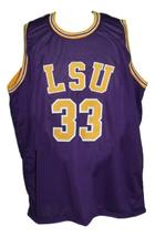 Shaquille O'Neal #33 Custom College Basketball Jersey New Sewn Purple Any Size image 4