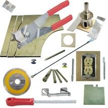 "Tile Cutter Kit 13pc Rd Jigsaw Rodsaw Grinder File Diamond Drills 1 3/8"" Holesaw - $101.92"