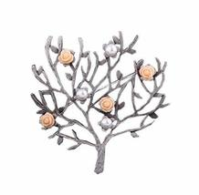 2 Pieces Of Creative Brooch Beads Flower Tree Brooch Clothes Accessories