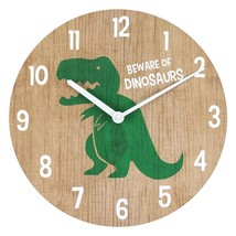 MDF Round Dinosaur  Wall Clock; 14 - $18.70