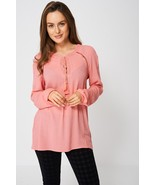Pink Tassel Long Sleeve Blouse Sizes : 8, 10, 12, 14, 16, 18, 20 Brand New - $16.23