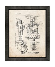 Automaton Merchandising Device Patent Print Old Look with Beveled Wood F... - $24.95+