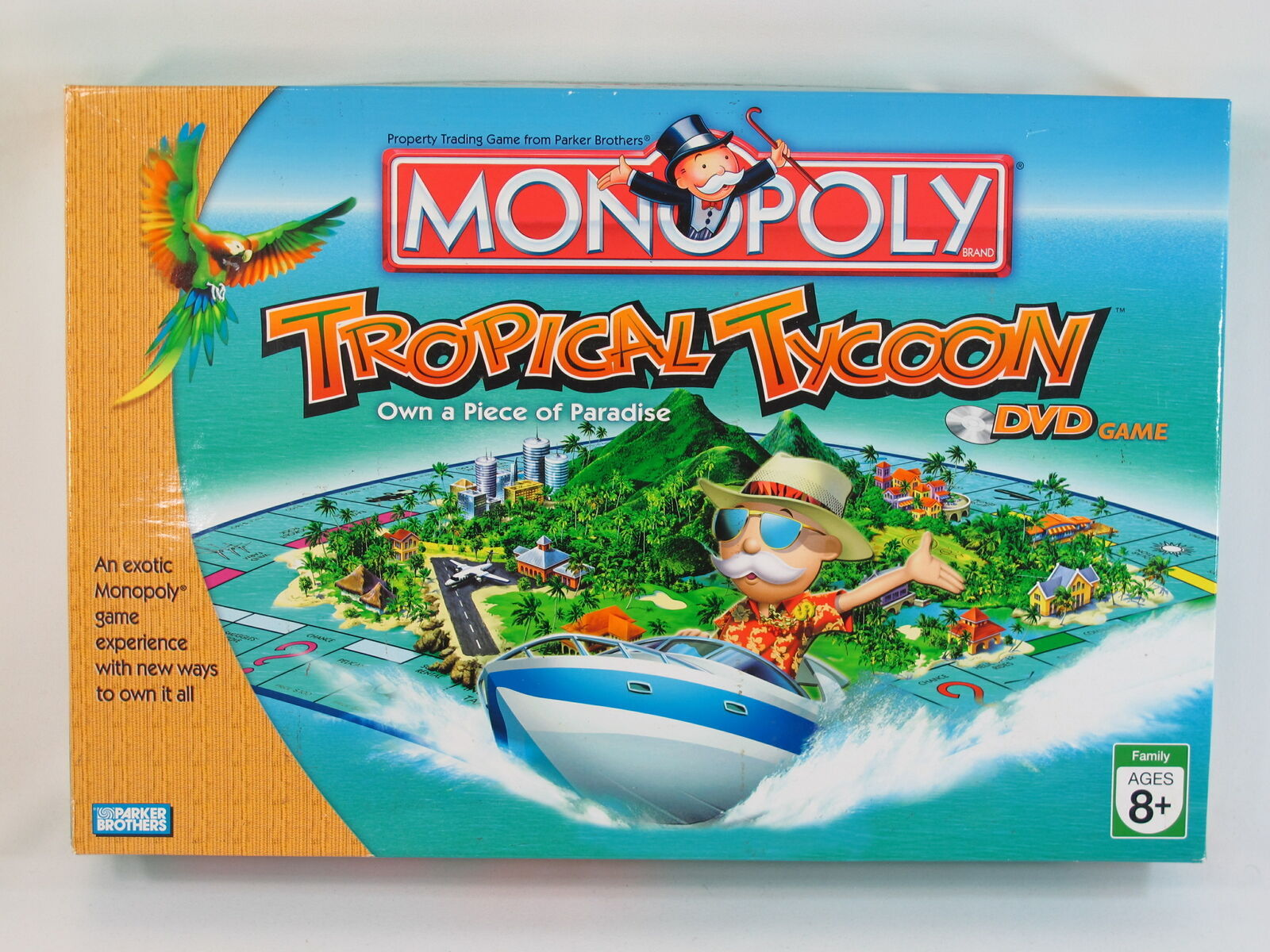 Monopoly Tropical Tycoon DVD Game 2007 Parker Brothers 100% Complete EUC - $30.21