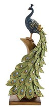 Deco 79 Poly-Stone Peacock, 7 by 21-Inch - $69.49