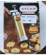Vntg Atlas Biscuits Maracato Cookie Press 18 Discs 4 Tips Model 178306 For Parts - $7.29