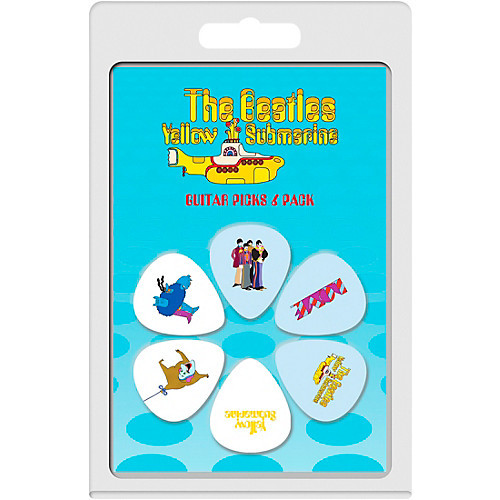 The beatles yellow submarine guitar picks 6 pack blue meanie