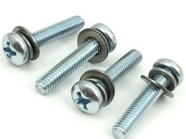 New Screws To Attach Base Stand Legs To Bottom Of Sharp TV Model LC-50N7002U - $6.58