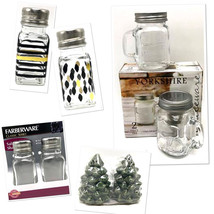 Salt Pepper Shaker Sets Glass Ceramic Stainless Kitchen Everyday Collect... - $6.92+