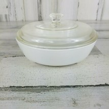 Corning Ware MW-83-B White Microwave Browning Dish with Lid 6.5 inch - $14.54