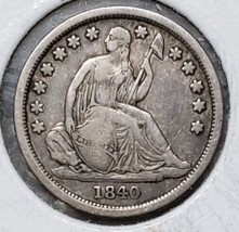1840O Silver Seated Dime 10¢ Coin Lot# MZ 4782