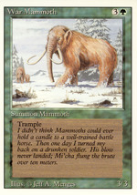 Magic: The Gathering 3rd Edition - War Mammoth - $0.39