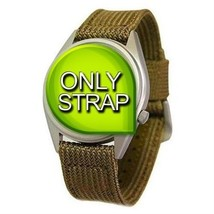 Seiko 18mm Military Nylon Khaki Watch Strap For SNX431 snx431_strap replacement - $36.00