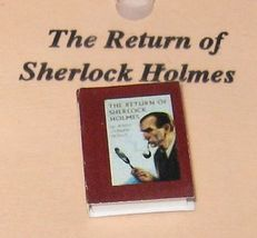 DOLLHOUSE Book The Return of Sherlock Holmes Jacqueline's B6040B Miniature - $2.61
