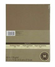 """Recollections Cardstock Paper - Kraft - 50 Pack - 8.5 x 11"""""""