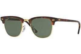 Ray Ban Men's Square Sunglasses RB3016 990/58 Havana Green Lens 49mm Aut... - $111.55