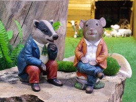 Extremely rare!POLYRESIN ANIMALS RELAXING  ,Garden Decoration ,Chanting ... - $29.00