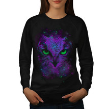Amazing Wild Owl Fun Jumper Giant Bird Women Sweatshirt - $18.99