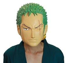 ONE PIECE Roronoa Zoro Rubber MASK Halloween Cosplay NIB from Japan F/S EMS - £95.35 GBP