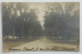 Old Real Photo Postcard RPPC View Main Street Sheffield, Massachusetts  - $19.55