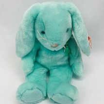 "Ty Beanie Buddies Baby Hippity Easter Bunny Rabbit Plush 1998 Mint Green 14"" - $20.00"